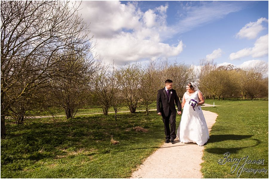 Beautiful portraits of the Bride and Groom at The Waterfront in Barton Marina by Burton-on-Trent Wedding Photographer Barry James