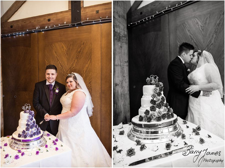 Wedding cake at The Waterfront in Barton Marina by Burton-on-Trent Wedding Photographer Barry James