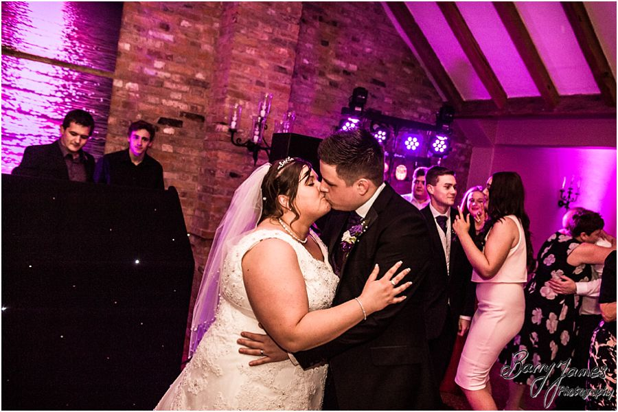 Relaxed fun photographs during the evening reception and first dance at The Waterfront in Barton Marina by Burton-on-Trent Candid and Contemporary Wedding Photographer Barry James