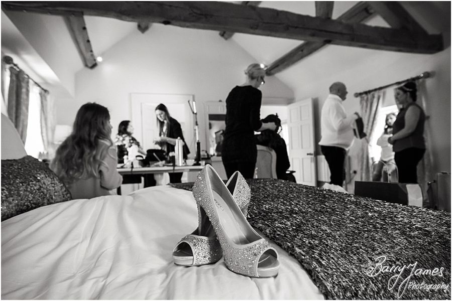 Candid photos of wedding morning preparations at Alrewas Hayes in Burton upon Trent by Recommended Wedding Photographer Barry James