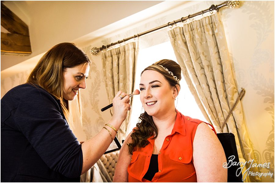 Creative candid photography of make up and preparations at Alrewas Hayes in Burton upon Trent by Recommended Wedding Photographer Barry James