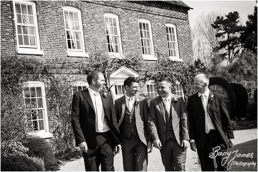 Relaxed portraits of groomsmen at Alrewas Hayes in Burton upon Trent by Contemporary and Creative Wedding Photographer Barry James