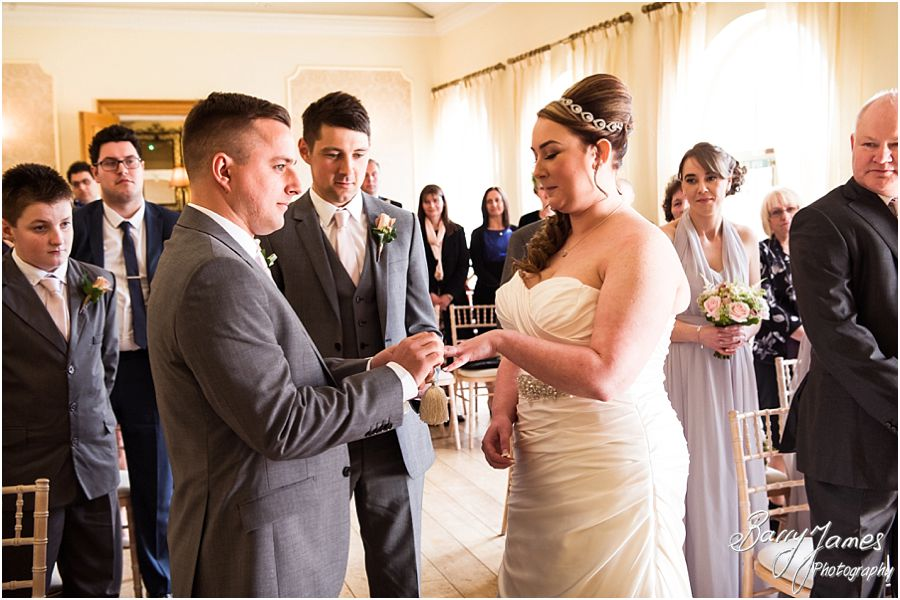 Reportage photos show the emotion and excitement of the wedding ceremony at Alrewas Hayes in Burton upon Trent by Contemporary and Creative Wedding Photographer Barry James