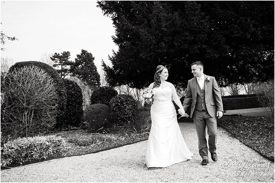 Creative relaxed portraits of the Bride and Groom around the wonderful grounds at Alrewas Hayes in Burton upon Trent by Contemporary and Creative Wedding Photographer Barry James