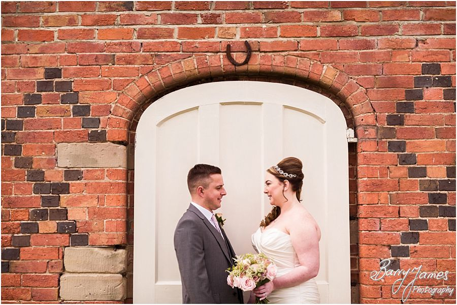 Beautiful relaxed portraits of the bride and groom at Alrewas Hayes in Burton upon Trent by Contemporary and Creative Wedding Photographer Barry James
