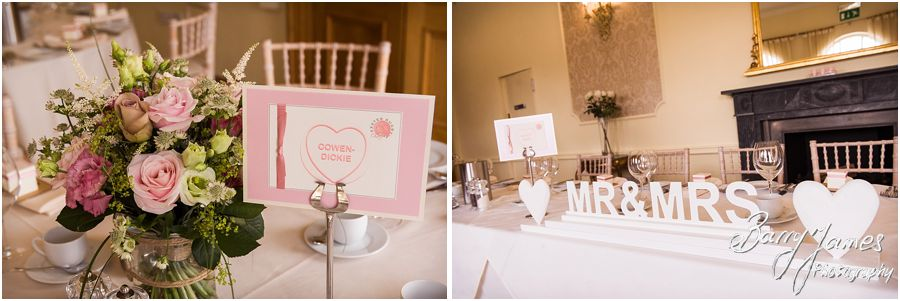 Stunning vintage theme for wedding breakfast at Alrewas Hayes in Burton upon Trent by Contemporary and Creative Wedding Photographer Barry James