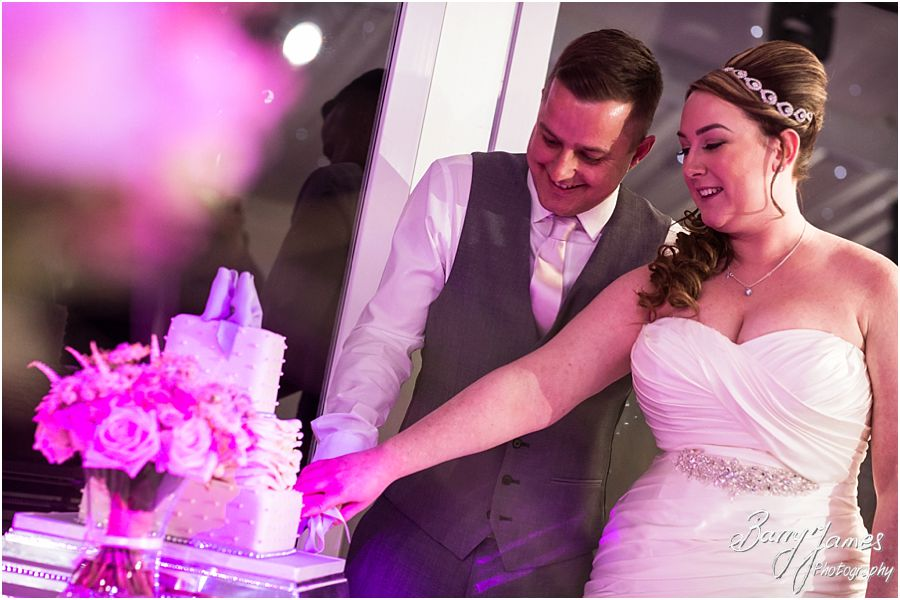 Wedding cakes at Alrewas Hayes in Burton upon Trent by Contemporary and Candid Wedding Photographer Barry James