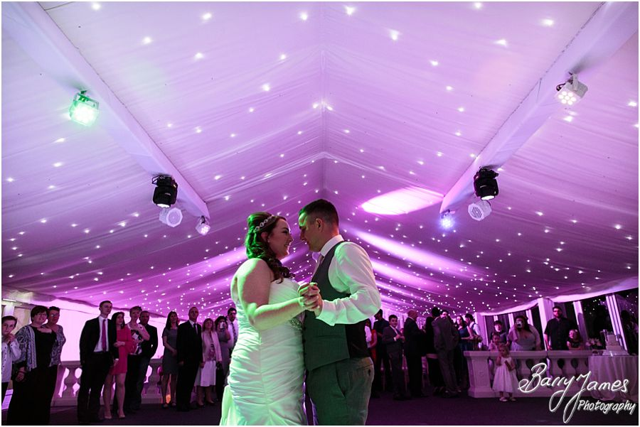 Creative photos of the first dance at Alrewas Hayes in Burton upon Trent by Contemporary and Candid Wedding Photographer Barry James