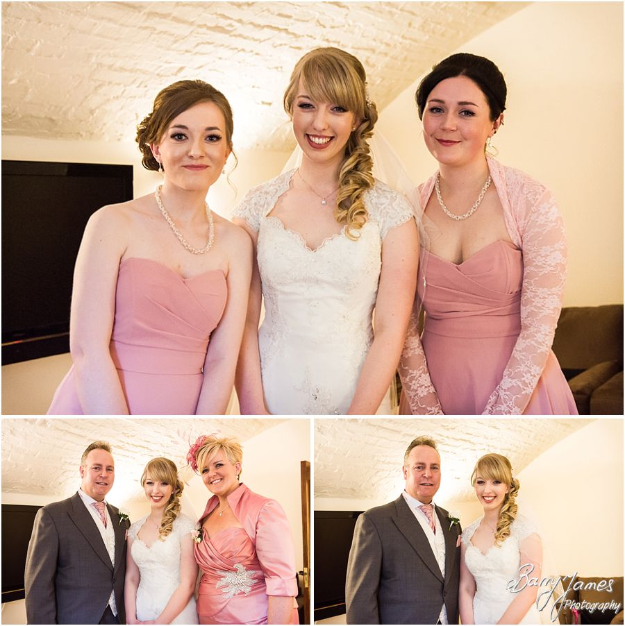 Relaxed photographs of bridal preparations at Hawkesyard Estate in Rugeley by Rugeley Wedding Photographer Barry James