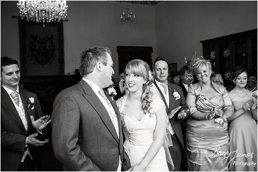 Unobtrusive beautiful photographs during the wedding ceremony at Hawkesyard Estate in Rugeley by Rugeley Award Winning Wedding Photographer Barry James