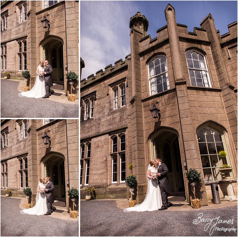 Contemporary portraits of the Bride and Groom at Hawkesyard Hall in Rugeley by Rugeley Professional Wedding Photographer Barry James