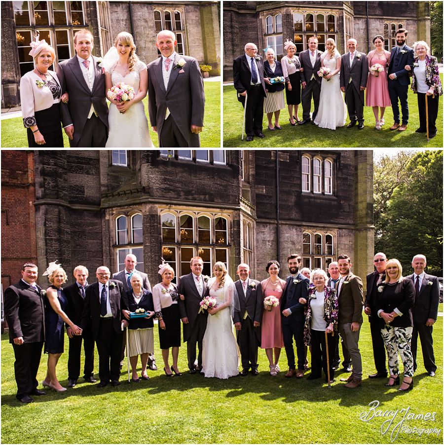 Natural family group photographs at Hawkesyard Hall in Rugeley by Rugeley Professional Wedding Photographer Barry James