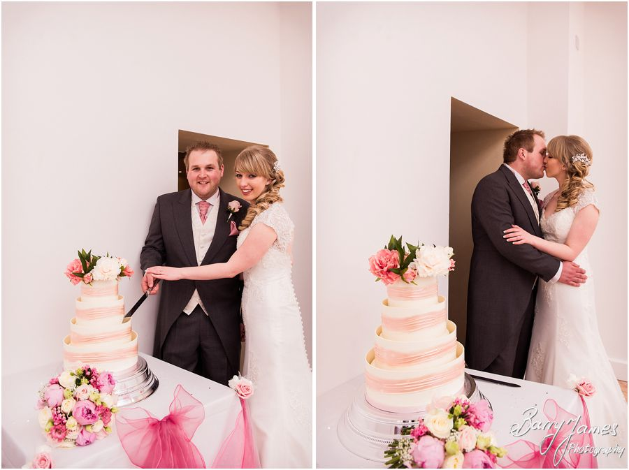 Wedding cakes at Hawkesyard Hall in Rugeley by Rugeley Professional Wedding Photographer Barry James