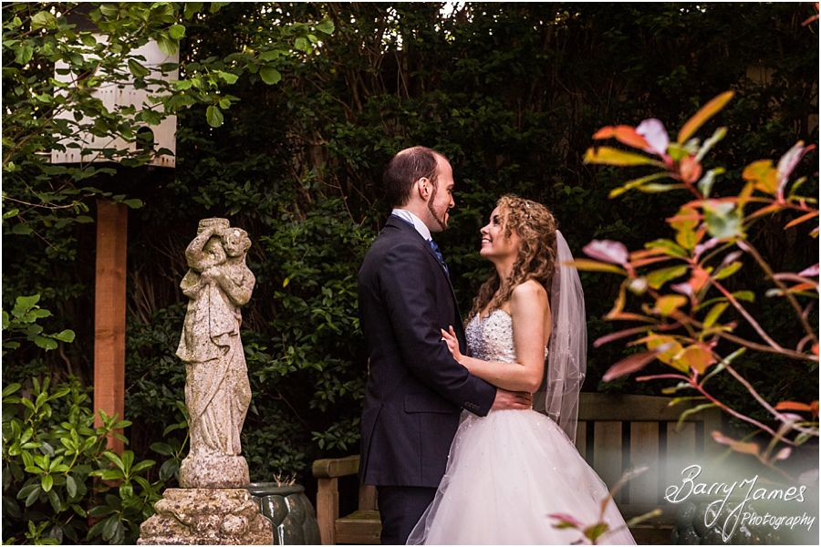 Beautiful countryside evening wedding portraits at Albright Hussey Manor in Shrewsbury by Contemporary Wedding Photographer Barry James