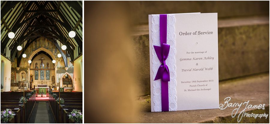 Beautiful wedding setting at Rushall Parish Church in Walsall by Walsall Wedding Photographer Barry James