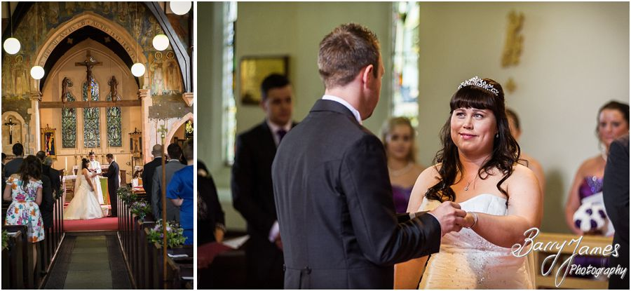 Two photographs capture the full wedding story at Rushall Parish Church in Walsall by Walsall Wedding Photographer Barry James