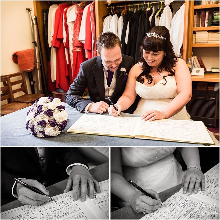 Traditional wedding photography at Rushall Parish Church in Walsall by Walsall Wedding Photographer Barry James