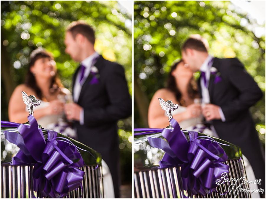 Wedding transport by Finishing Touch Cars at Walsall Arboretum in Walsall by Walsall Wedding Photographer Barry James