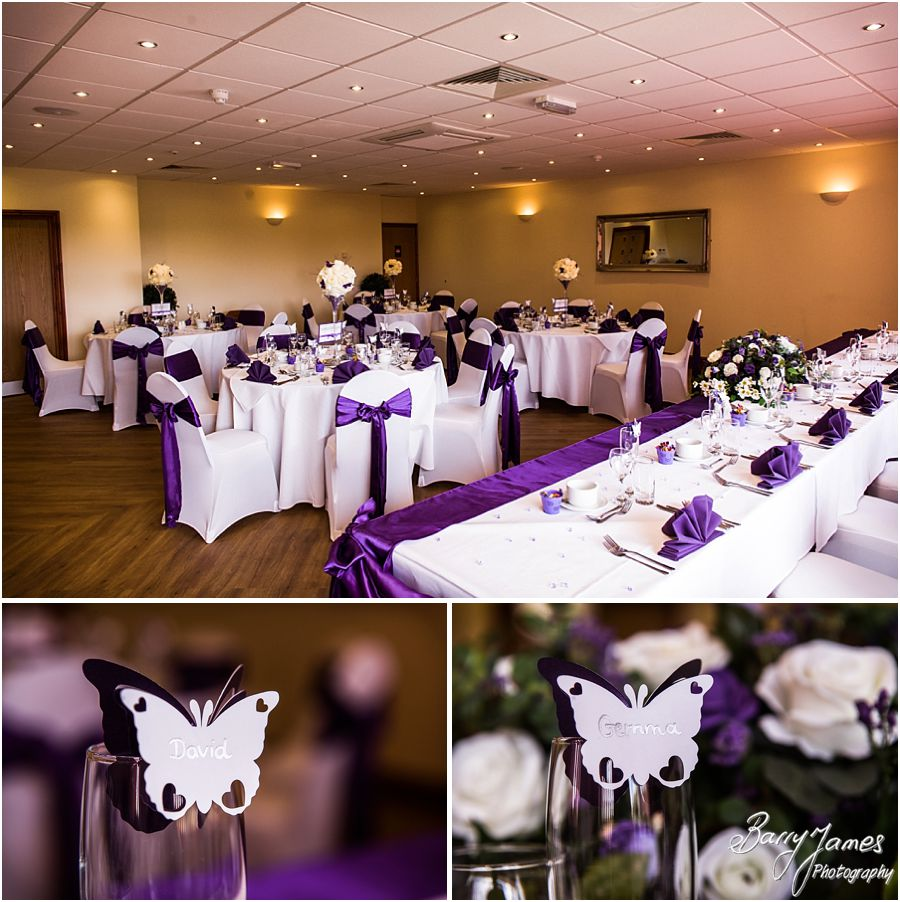 Stunning room setting for the wedding breakfast at The Chase in Cannock by Walsall Wedding Photographer Barry James