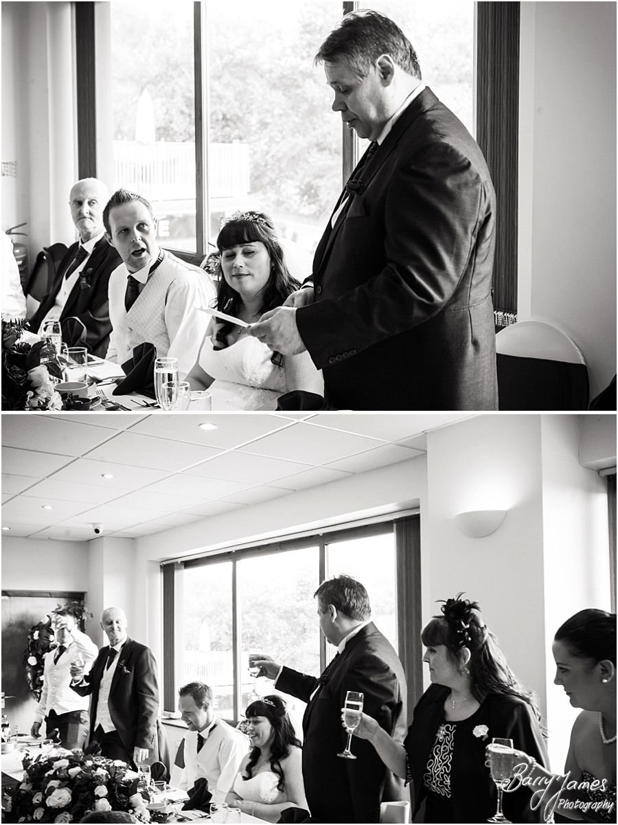 Capturing the fantastic speeches and guest reactions at The Chase in Cannock by Walsall Wedding Photographer Barry James