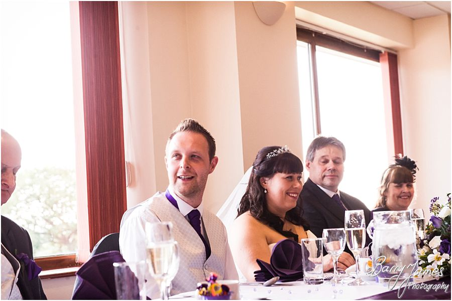 Candid photos of the speeches and guest reactions at The Chase in Cannock by Walsall Wedding Photographer Barry James