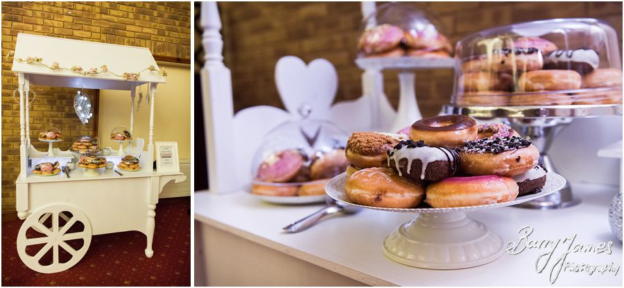 Krispy Kreme doughnuts for wedding favours at The Chase in Cannock by Walsall Wedding Photographer Barry James