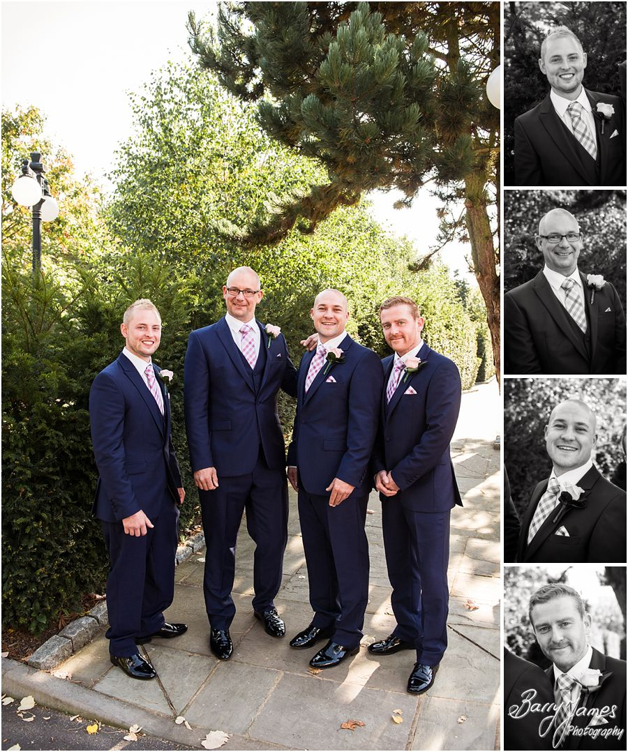 Creative contemporary photographs of the groom at The Fairlawns in Walsall by Fairlawns Wedding Photographer Barry James
