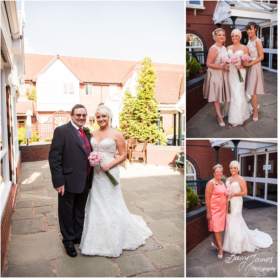 Natural portraits of bridal party at The Fairlawns in Walsall by Fairlawns Wedding Photographer Barry James