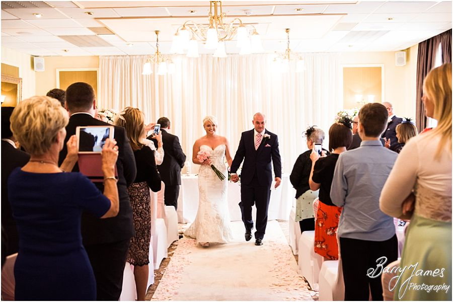 Beautiful wedding ceremony at The Fairlawns in Walsall by Fairlawns Wedding Photographer Barry James