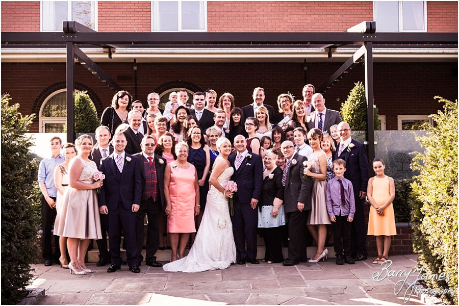 Wedding party photographs at The Fairlawns in Walsall by Fairlawns Wedding Photographer Barry James