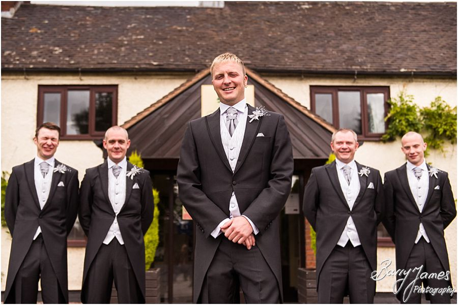 Creative and contemporary groom portraits at Oak Farm in Cannock by Cannock Wedding Photographer Barry James