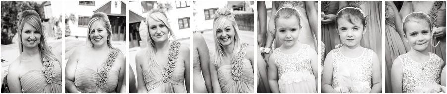 Beautiful bridesmaids limousine arrival at Oak Farm in Cannock by Cannock Wedding Photographer Barry James