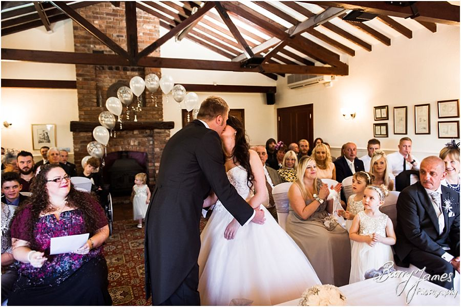 Unobtrusive photographs that show the emotion and feeling of the wedding ceremony at Oak Farm in Cannock by Cannock Wedding Photographer Barry James