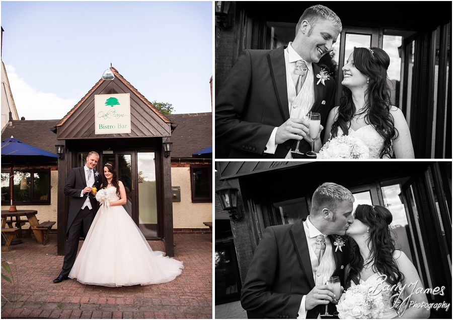 Contemporary portraits of the Bride and Groom at Oak Farm in Cannock by Cannock Wedding Photographer Barry James