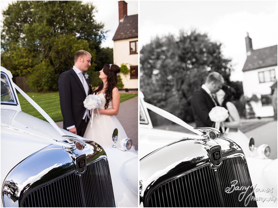 Stunning wedding cars from Platinum Cars at Oak Farm in Cannock by Cannock Wedding Photographer Barry James