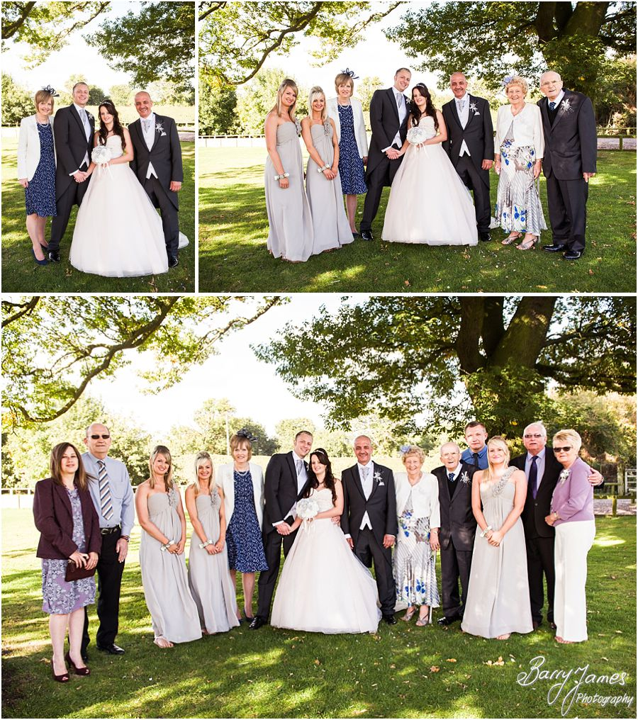 Relaxed and natural family group photographs at Oak Farm in Cannock by Cannock Wedding Photographer Barry James