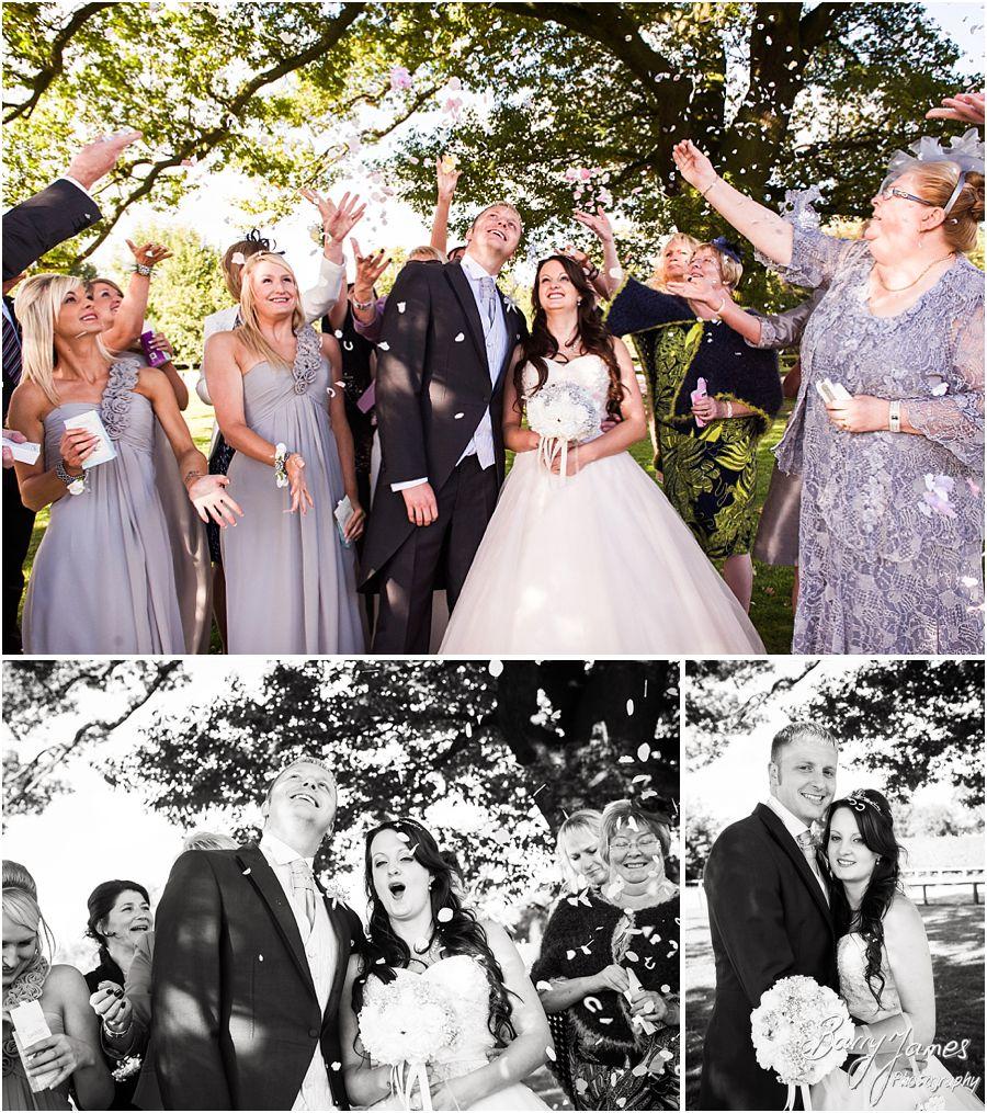 Confetti fun at Oak Farm in Cannock by Cannock Wedding Photographer Barry James