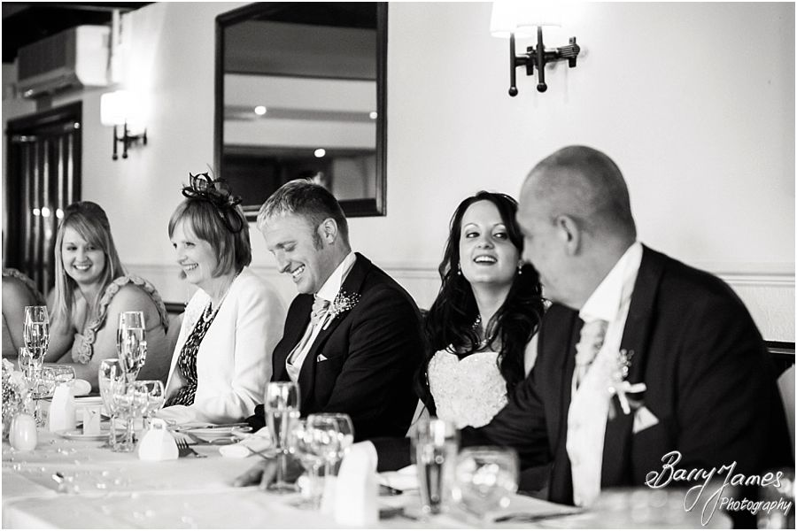 Fabulous reactions to the Best Mens speeches at Oak Farm in Cannock by Cannock Wedding Photographer Barry James