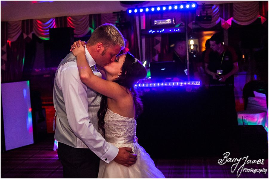 Creative photos showing the excitement and intimacy of the first dance at Oak Farm in Cannock by Cannock Wedding Photographer Barry James