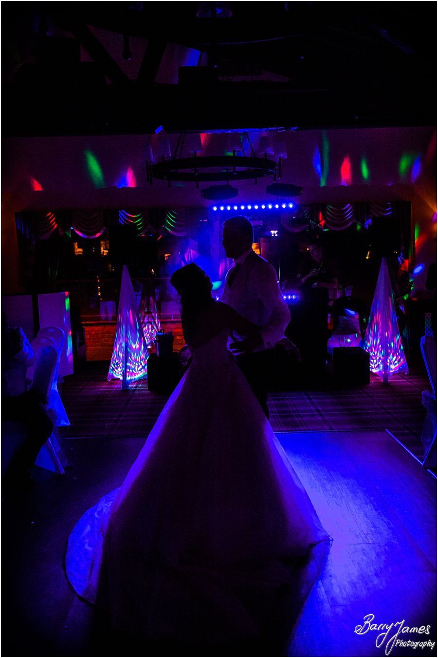 Inspired creative first dance photographs at Oak Farm in Cannock by Cannock Wedding Photographer Barry James