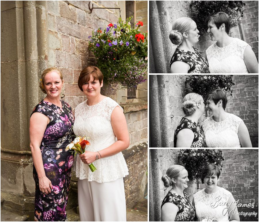 Contemporary portraits of the bride before the ceremony at Clearwell Castle in Gloucestershire by Gloucester Wedding Photographer Barry James