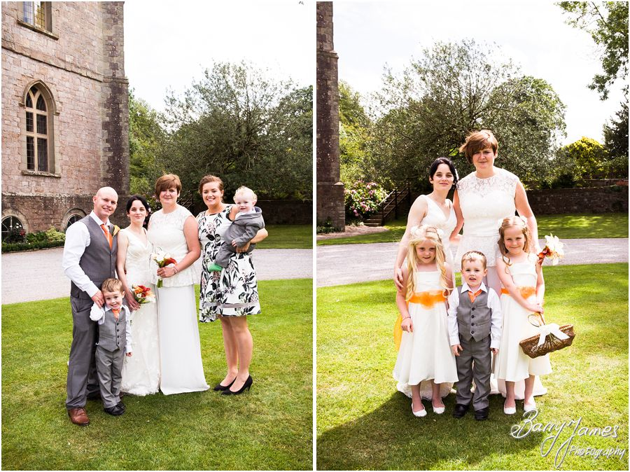 Relaxed family photographs in the grounds of Clearwell Castle in Gloucestershire by Gloucester Wedding Photographer Barry James