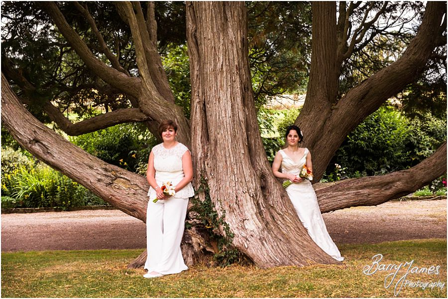 Natural relaxed portraits of the brides around the beautiful gardens at Clearwell Castle in Gloucestershire by Gloucester Wedding Photographer Barry James
