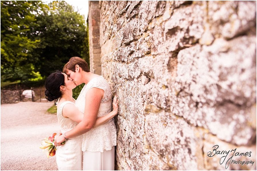 Making sure they felt comfortable and at ease whilst creating beautiful timeless portraits at the gate house at Clearwell Castle in Gloucestershire by Gloucester Wedding Photographer Barry James