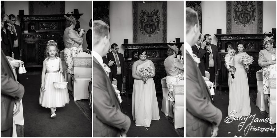 Unobtrusive photographs of the entrance of the bride showing all the emotion and excitement at Hawkesyard Estate in Rugeley by Rugeley Wedding Photographer Barry James