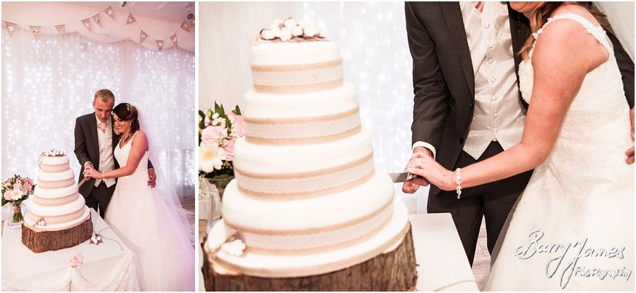 Beautiful wedding cake for wedding at Hawkesyard Estate in Rugeley by Rugeley Wedding Photographer Barry James
