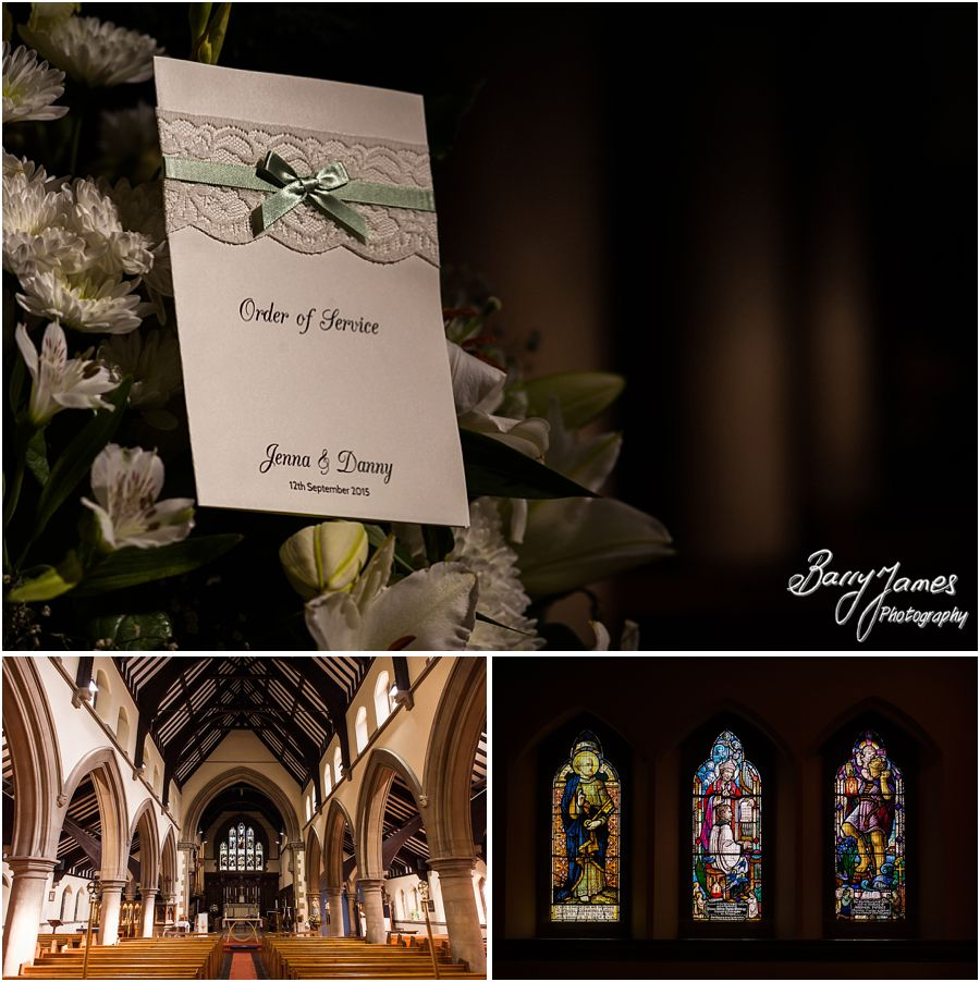 Gorgeous wedding setting at St Marys Church Hurst Hill in West Midlands by West Midlands Wedding Photographer Barry James