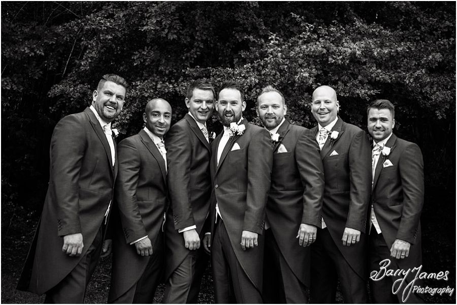 Relaxed groomsmen photographs at St Marys Church Hurst Hill in West Midlands by West Midlands Wedding Photographer Barry James