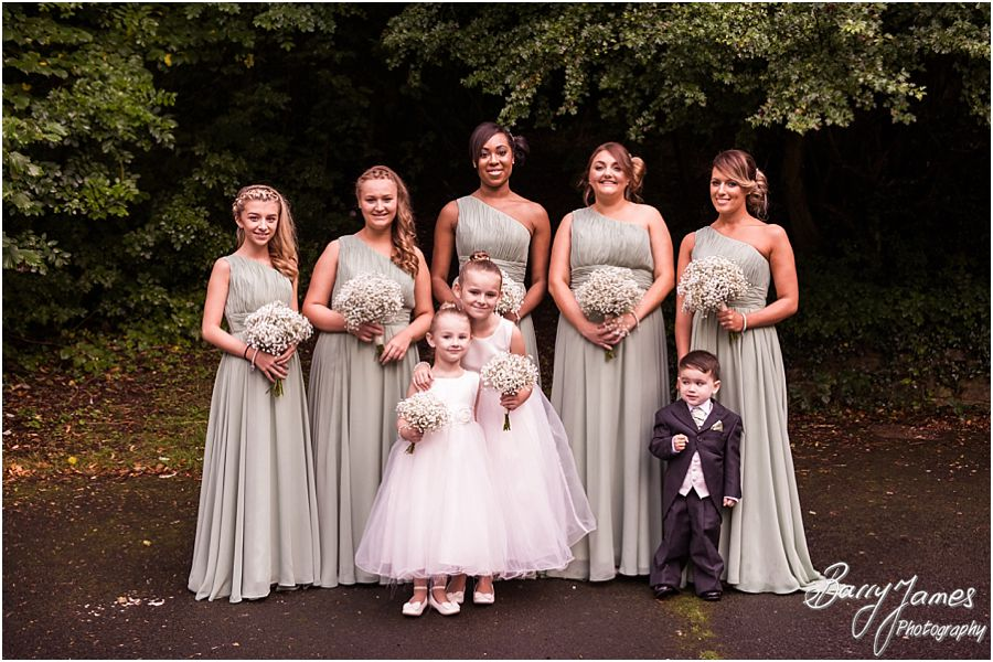 Beautiful bridesmaids at St Marys Church Hurst Hill in West Midlands by West Midlands Wedding Photographer Barry James
