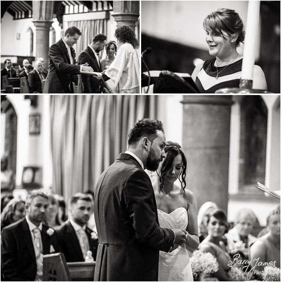 Unobtrusive photographs capturing the beautiful wedding ceremony at St Marys Church Hurst Hill in West Midlands by West Midlands Wedding Photographer Barry James